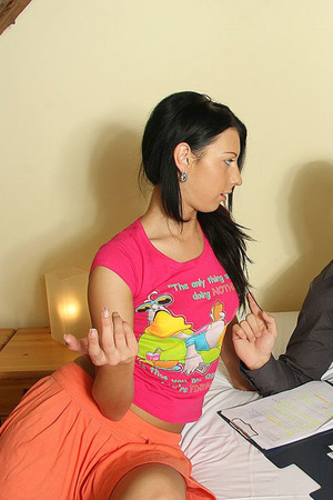 He shoots on her face after he aggressiv - XXX Dessert - Picture 1