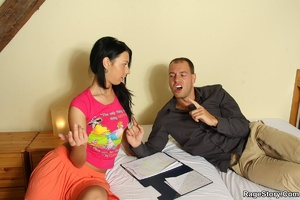He shoots on her face after he aggressiv - XXX Dessert - Picture 17