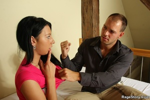 He shoots on her face after he aggressiv - XXX Dessert - Picture 19