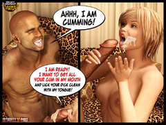 Redhead 3d milf gets her pussy dildoed while watching - Picture 8