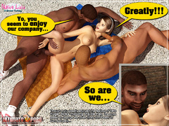 Xxx interracial 3d porn pics of petite body beauty - Picture 5
