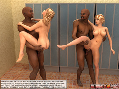 Two black 3d guys with huge dicks sedcued a pair of - Picture 9