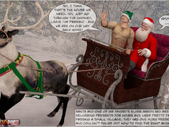 Horny 3d Santa and his helper sedcued two lusty - Picture 2