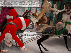 Horny 3d Santa and his helper sedcued two lusty - Picture 3