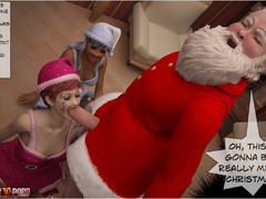 Horny 3d Santa and his helper sedcued two lusty - Picture 5