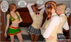 Sexy shaped 3d blonde college girl gest seduced…