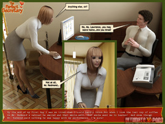 Horny 3d guy forced his beautiful secretary show her - Picture 4