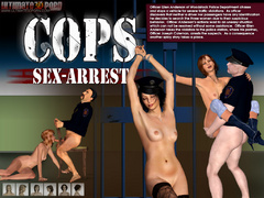 Imprisoned 3d lusty gilrs having lesbian fun in front - Picture 1