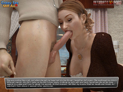 Busty brunettte 3d milf in white stockings gets her - Picture 4