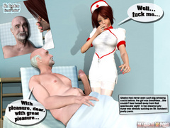 Sex starving 3d brunette nurse gets cum covered after - Picture 3