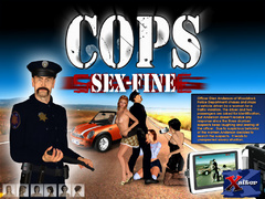 Lucky 3d police officer forced three stunning cuties - Picture 1
