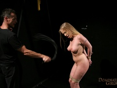 Cruel master tortures his blonde slave very hard when - Picture 4