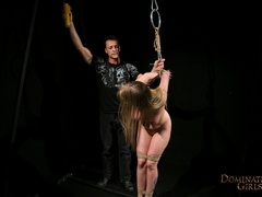 Cruel master tortures his blonde slave very hard when - Picture 5