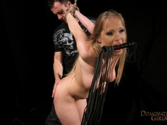 Cruel master tortures his blonde slave very hard when - Picture 7