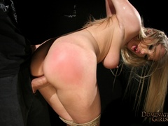 Cruel master tortures his blonde slave very hard when - Picture 10