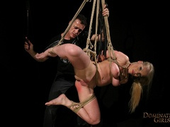 Cruel master tortures his blonde slave very hard when - Picture 12