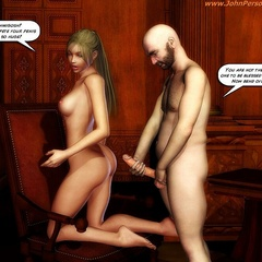 Cartoon nasty bimbos getting naked and practicing - Picture 1