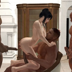 Xxx cartoon porn pics of sex hungry white cheecks - Picture 4