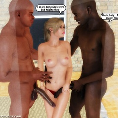 3d white hotties slowly undressing before getting it - Picture 1
