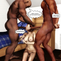 Sex hungry 3d white babes slowly getting nakied and - Picture 2