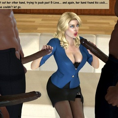 3d blonde milf with perfect breasts can't believe she - Picture 1