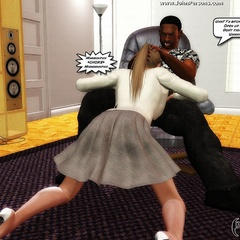 Sex hungry 3d cuties get seduced by black guy and - Picture 1