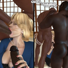 Xxx interracila porn pics of blonde 3d milf pleasing - Picture 3