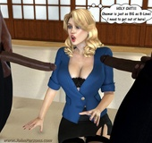 Huge boobs 3d cuties gets seduced and gonna be fucked by sex hungry black