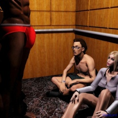 3d interracial sessiona performed by horny black guys - Picture 4