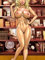 Cartoon busty cutie gets her stomach - Picture 3