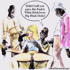 Xxx interracial cartoon porn pics of white babe doing - Picture 1