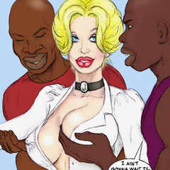 Two horny cartoon black students undressing and - Picture 3