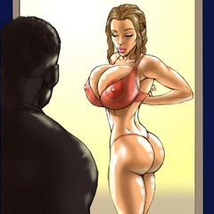 Cartoon black guys sticking their huge dongs in every - Picture 1