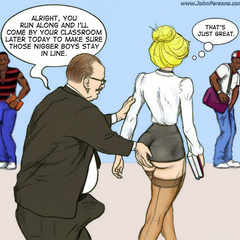 Apple butt blonde toon teacher in stockings are - Picture 4