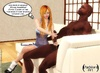 Gold haired white chick works on huge black dick…