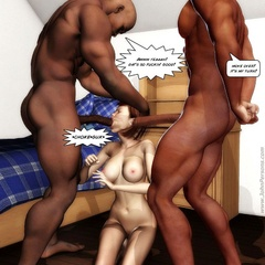 Brunette toon chick slowly getting naked and lets - Picture 3