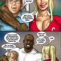 Interracial xxx cartoon pics of blonde cheerleader - Picture 1
