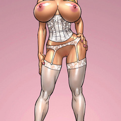 Sexy lingerie dressed cartoon chicks enjoying - Picture 4