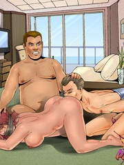 Perverted toon guy forced tied up guy - BDSM Art Collection - Pic 1