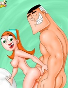 Naked cartoon wives can't stand their desire and…