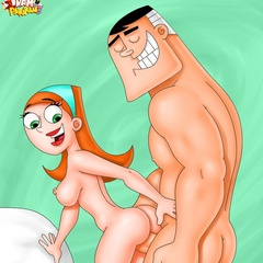 Naked cartoon wives can't stand their desire and - Picture 2