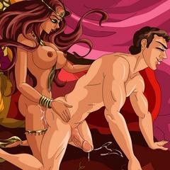 Sex starving cartoon ladyboy princess having hardcore - Picture 1