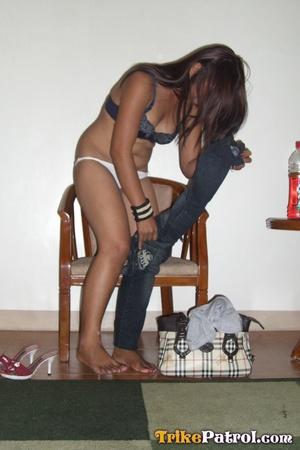 Taking bra off her Asian xxx flesh and taking phallus with hands! - XXXonXXX - Pic 7