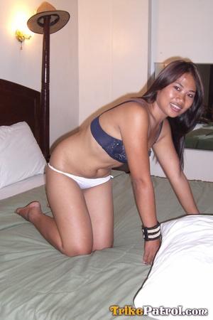 Taking bra off her Asian xxx flesh and taking phallus with hands! - XXXonXXX - Pic 8