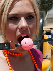 Bitch gets ball gagged and fucked by - XXX Dessert - Picture 2