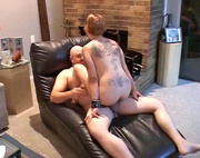 taatoed chubby mom enjoying