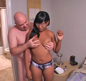 Lovely ebony housewife begging her white lover for…