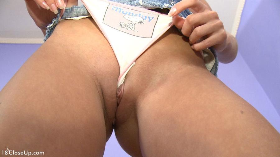 Women wearing split crotch panties
