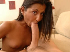 Small-titted brunette takes huge cock into - XXX Dessert - Picture 3