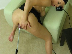 Short haired beauty taking of her black - XXX Dessert - Picture 12